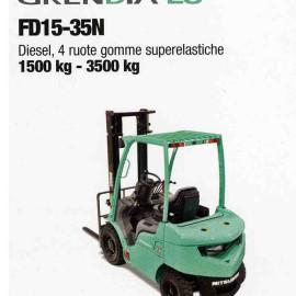 Frontale Diesel FD15-35N - 4 ruote superelastcihe - 1500 kg / 3500 kg