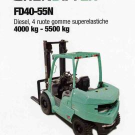Frontale Diesel FD40-55N - 4 ruote superelastcihe - 4000 kg / 5500 kg