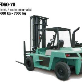 Frontale Diesel FD60-70 - 4 ruote pneumatici - 6000 kg / 7000 kg