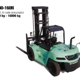 Frontale Diesel FD80-160N - 6 ruote penumatici - 8000 kg / 16000 kg