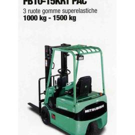 Frontale Elettrico FB10-15KRT-PAC - 3 gomme superelastiche - 1000 kg / 1500 Kg