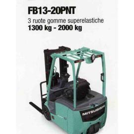 Frontale Elettrico FB13-20PNT - 3 gomme superelastiche - 1300 kg / 2000 Kg