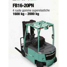 Frontale Elettrico FB16-20PN - 4 gomme superelastiche - 1600 kg / 2000 Kg