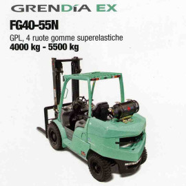 Frontale Gpl FG40-55N - 4 ruote gomme superelastiche - 4000 Kg / 5500 Kg