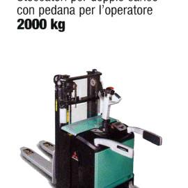 Stoccatore PBV20ND - Stoccatori per doppio carico con pedana per l'operatore - 1600 Kg