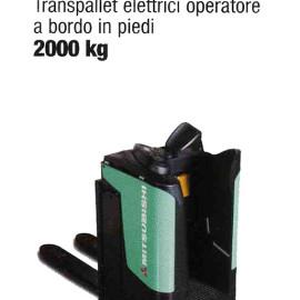 Transpallet Elettrico PBR20N - Transplallet elettrico con operatore a bordo in piedi - 2000 Kg