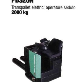 Transpallet Elettrico PBS20N - Transplallet elettrico con operatore a bordo - 2000 Kg / 2500 Kg